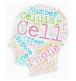 Your Cell Phone And The Environment text vector image vector image