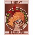 library girl vector image