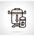 Coffee grinder simple line icon vector image