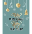 Merry Christmas and Happy New Year luxury vector image