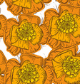 Abstract Elegance Seamless pattern orange flowers vector image