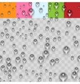 Water Transparent Drops Seamless Pattern vector image