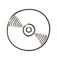 CD or DVD symbol vector image