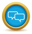 Gold conversation icon vector image