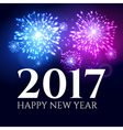 2017 new year background banner abstract firework vector image vector image