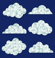 abstract clouds collection vector image vector image