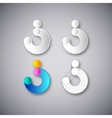 abstract combination of letter s