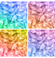 Abstract crystal colorful backgrounds vector image vector image