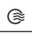 air circulation dashboard icon vector image vector image