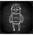 bald man drawing on chalk board vector image vector image