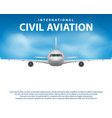 banner poster flyer with airplane background vector image vector image