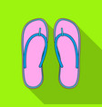 beach flip flopssummer rest single icon in flat vector image vector image