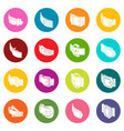 belt buckle icons set colorful circles vector image