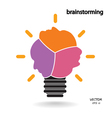 brainstorming sign vector image