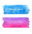 Bright watercolor banners set vector image vector image