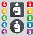 broken arm disability icon sign A set of 12 vector image