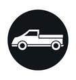 car pickup truck transport vehicle block and flat vector image vector image