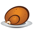 Cartoon roast turkey vector image