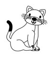 cat on white background vector image vector image