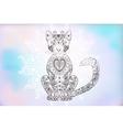 Cat zentangle doodle cat mehendi vector image