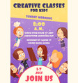 children classes poster vector image vector image