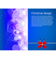 Christmas Design with Text Space vector image