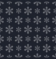 christmas snowflake pattern cute style vector image