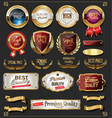 collection vintage retro premium quality vector image vector image