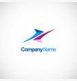 colored arrow company logo vector image vector image
