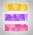 colorful abstract triangular polygonal banners set vector image
