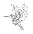 contour mechanical hummingbird vector image