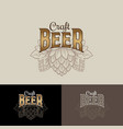 Craft beer logo hop cone brewing beer pub