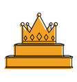 crown on podium success winner vector image