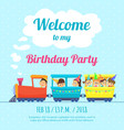 design template poster for kids party vector image vector image