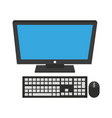 desk computer isolated vector image