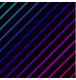 diagonal vivid neons with laser grid on background vector image vector image