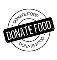 donate food rubber stamp vector image vector image
