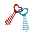 elegant tie decoration icon vector image