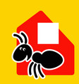 fast delivery cheerful ant as a courier vector image