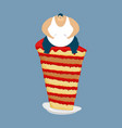 fat guy and cake glutton thick man and pie fatso vector image