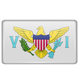 Flags VirginIslandsUS in the form of a magnet on vector image vector image