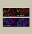 flayer template for shop discounts with icons vector image vector image