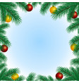 frame with spruce branches vector image