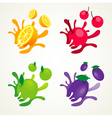 fruit splash set vector image vector image