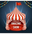 Funfair circus Poster with tent vector image