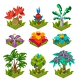 Garden Plants with Flowers for Game vector image