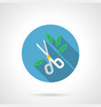 garden scissors flat round icon vector image