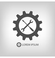 Gear wheel and tools as logo vector image vector image