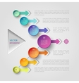Geometric infographic concept vector image