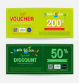 gift voucher or gift coupon for back to school vector image vector image